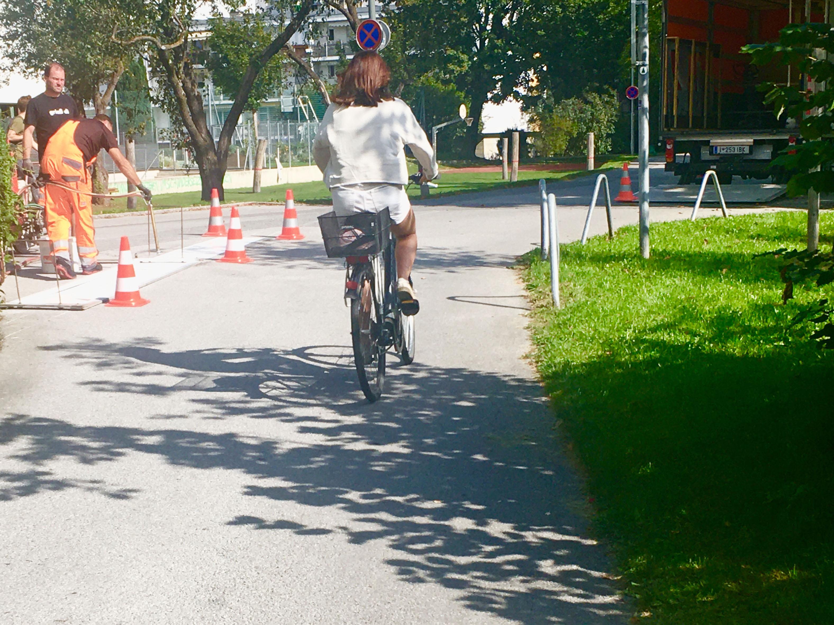 Innsbruck: Vorrang für Fahrräder am Prandtauerufer